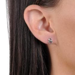 Journee Collection Sterling Silver Money Symbol Stud Earrings - Thumbnail 2