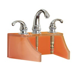 Decolav Tempered Glass Frosted Amber Faucet Stand