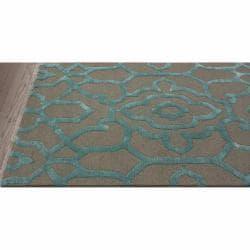nuLOOM Handmade Marrakesh Grey Faux Silk/ Wool Rug (7'6 x 9'6) - Thumbnail 1