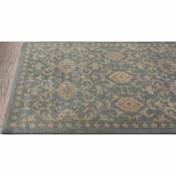 nuLOOM Handmade Persian Motif Light Blue Wool Rug (5' x 8') - Thumbnail 1