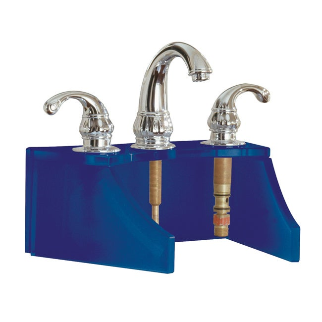 Tempered Glass Frosted Cobalt Faucet Stand