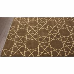 nuLOOM Handmade Marrakesh Trellis Brown Wool Rug (5' x 8') - Thumbnail 1