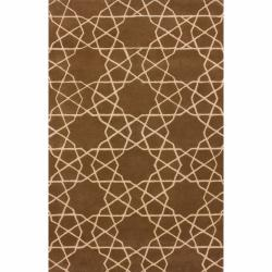 nuLOOM Handmade Marrakesh Trellis Brown Wool Rug (5' x 8')