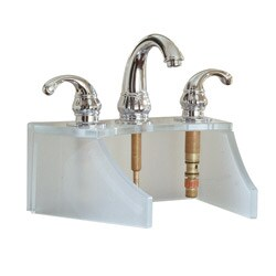 Frosted White Tempered Glass Faucet Stand