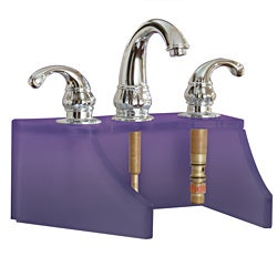Tempered Glass Frosted Violet Faucet Stand