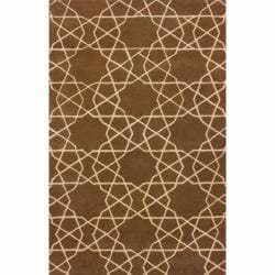 nuLOOM Handmade Marrakesh Trellis Brown Wool Rug (7'6 x 9'6)