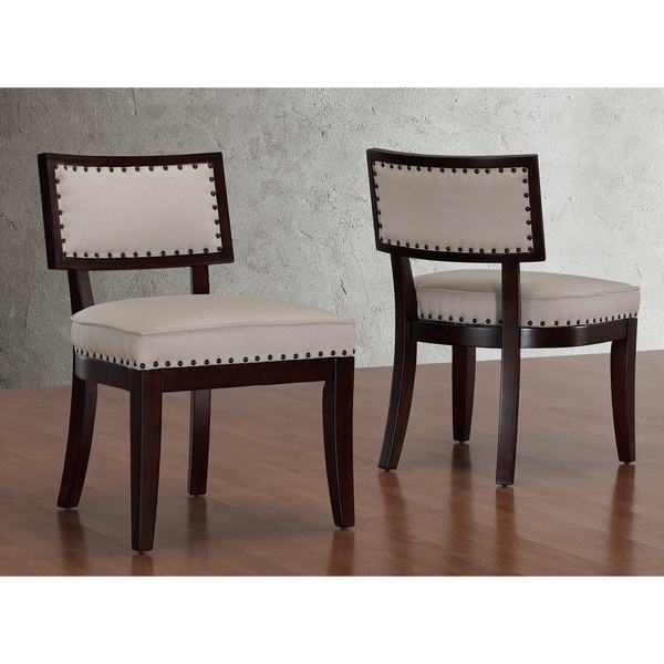 Hannah Espresso Contoured Back Dining Chairs (Set of 2)