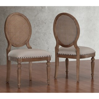 Carbon Loft Elements Weathered Oak Cane Back Dining Chairs (Set of 2)