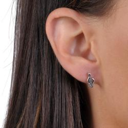 Journee Collection Sterling Silver Hypoallergenic Treble Clef Stud Earrings
