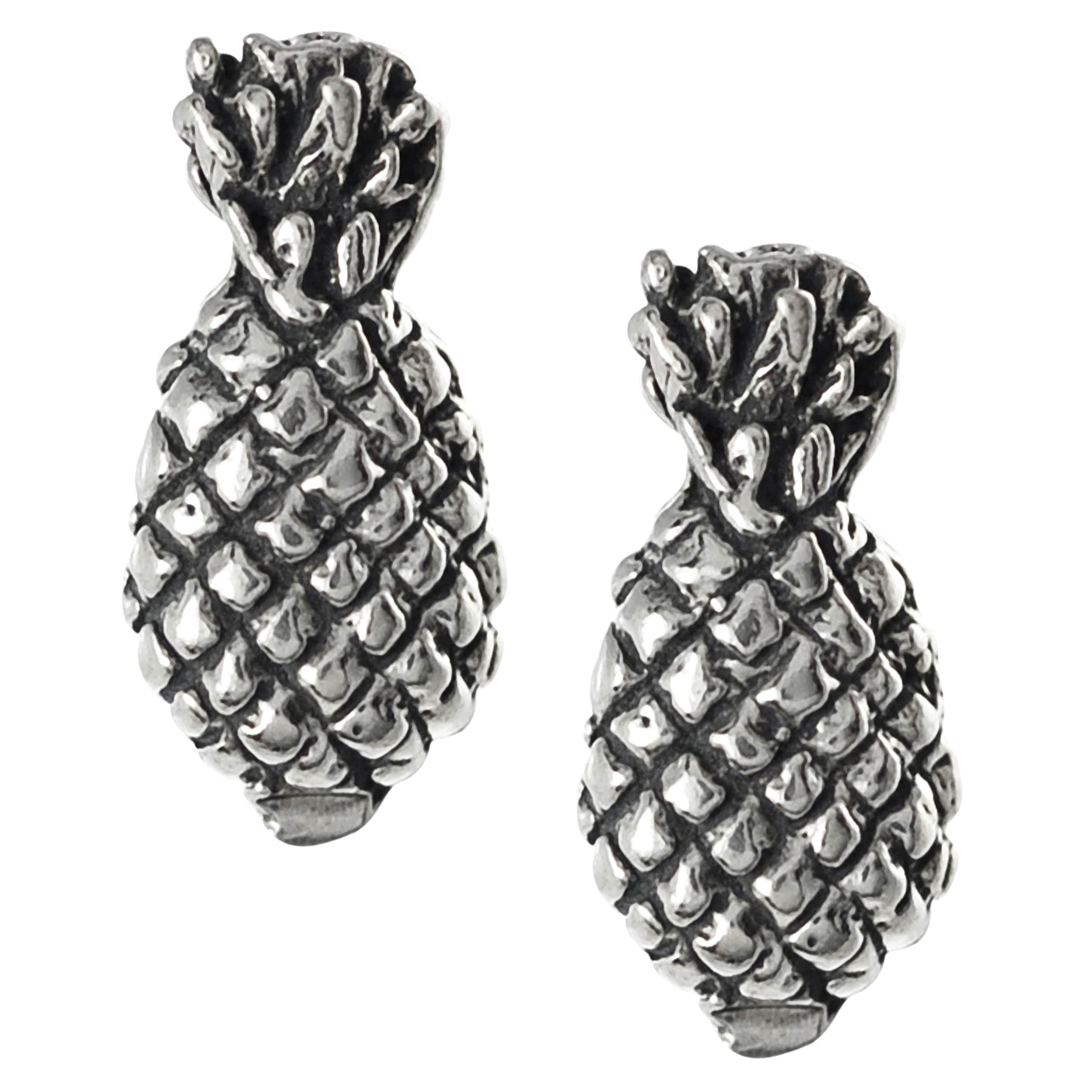 lisa silver stud gold pineapple jewellery and dipped angel earrings