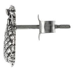 Journee Collection Sterling Silver Pineapple Stud Earrings - Thumbnail 1