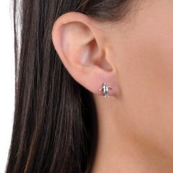 Journee Collection Sterling Silver Penguin Stud Earrings