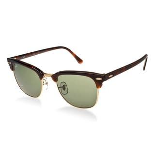 816e89af708 Ray-Ban Clubmaster RB3016 W0366 Tortoise   Green G15 Unisex Sunglasses