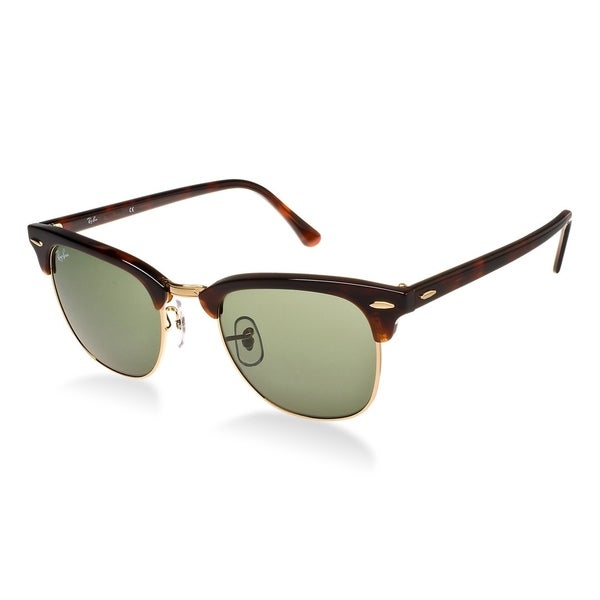 02fab00da6a Ray-Ban Clubmaster RB 3016 Unisex Tortoise Frame Green Classic Lens  Sunglasses