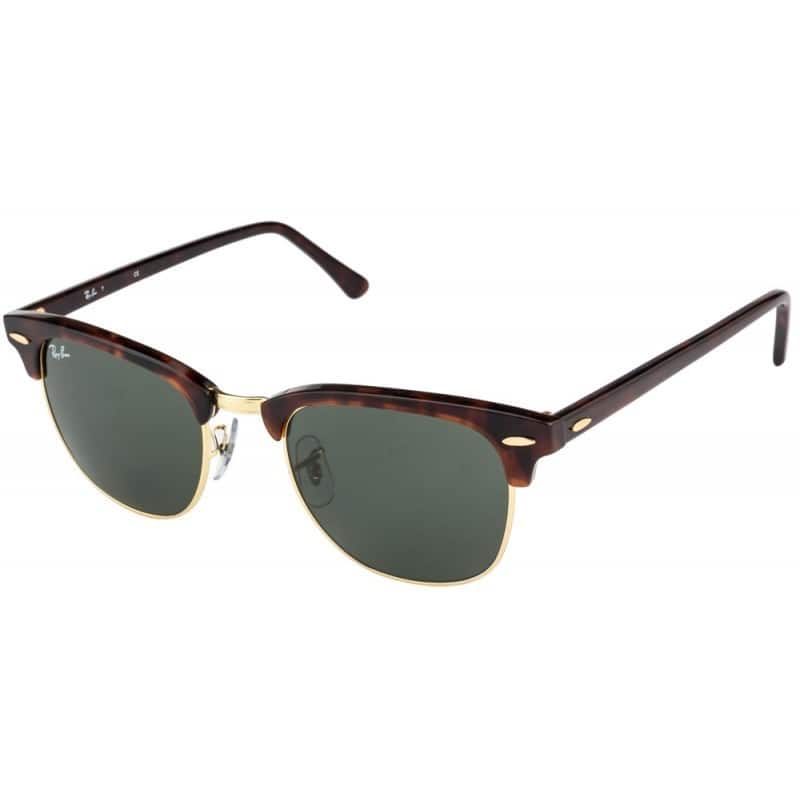 Ray-Ban Clubmaster RB3016 W0366 Tortoise / Green G15 Unisex Sunglasses