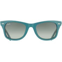 Ray-Ban RB 2140 Original Wayfarer 884/71 Matte Turqoise Plastic Sunglasses - Thumbnail 1