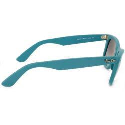Ray-Ban RB 2140 Original Wayfarer 884/71 Matte Turqoise Plastic Sunglasses - Thumbnail 2
