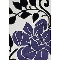 Alliyah Handmade Vanilla New Zealand Blend Wool Rug (5' x 8') - 5' x 8'