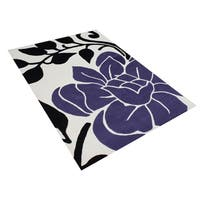 Alliyah Handmade Vanilla New Zealand Blend Wool Rug - 5' x 8'