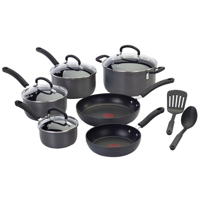 The T-fal Ultimate Hard-anodized 12-piece Cookware Set - Thumbnail 0
