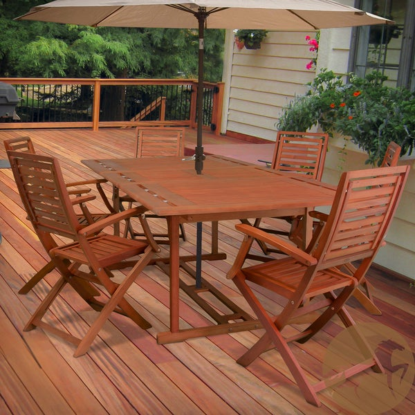 Christopher Knight Home Lakeside Wood 7-piece Outdoor Dining Set
