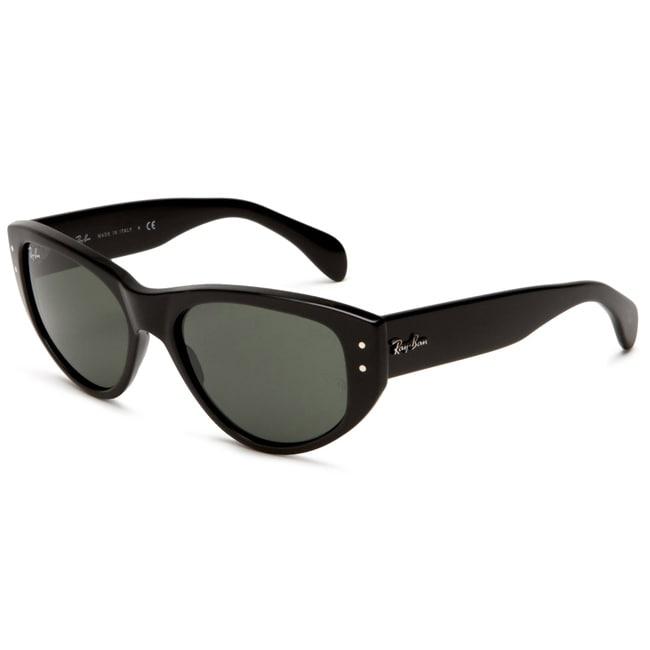 Ray-Ban RB 4152 Vagabond 601 Black Plastic Cat Eye Sunglasses