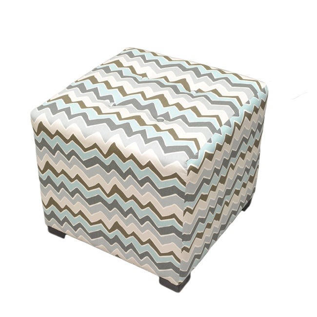 Shop Sole Designs Denton Zigzag Square Ottoman On Sale