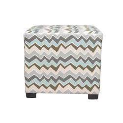 Sole Designs Denton ZigZag Square Ottoman - Thumbnail 1