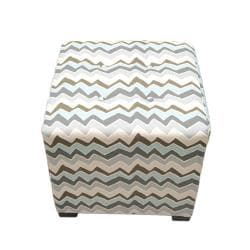 Sole Designs Denton ZigZag Square Ottoman - Thumbnail 2