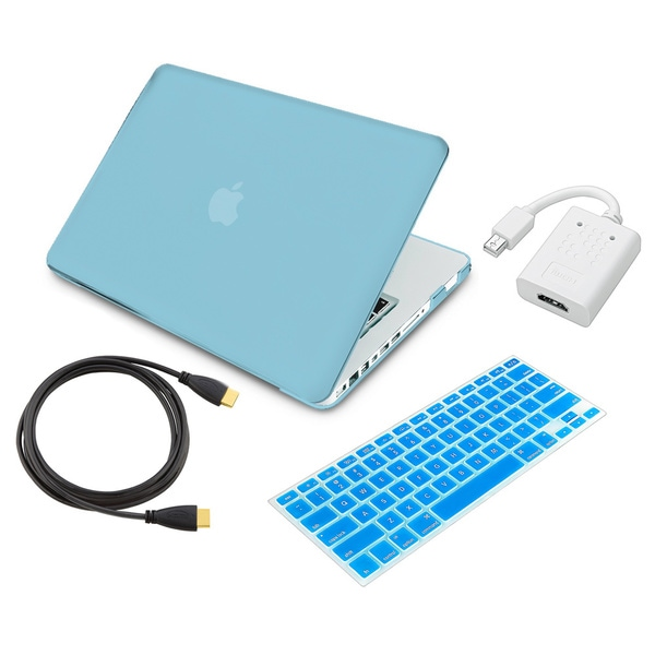 INSTEN Laptop Case Cover/ Skin/ HDMI Adapter/ Cable for Apple MacBook Pro 13-inch