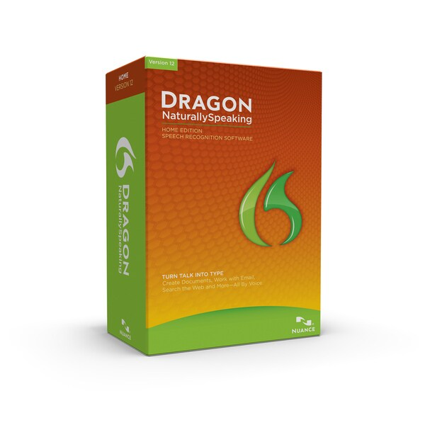 Nuance Dragon NaturallySpeaking v.12.0 Home Edition - Complete Produc
