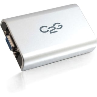 C2G USB 2.0 to VGA Adapter for Desktops and Laptops