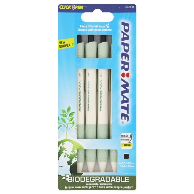Paper Mate Earth Write Retractable Medium Point 4 Ballpoint Pens