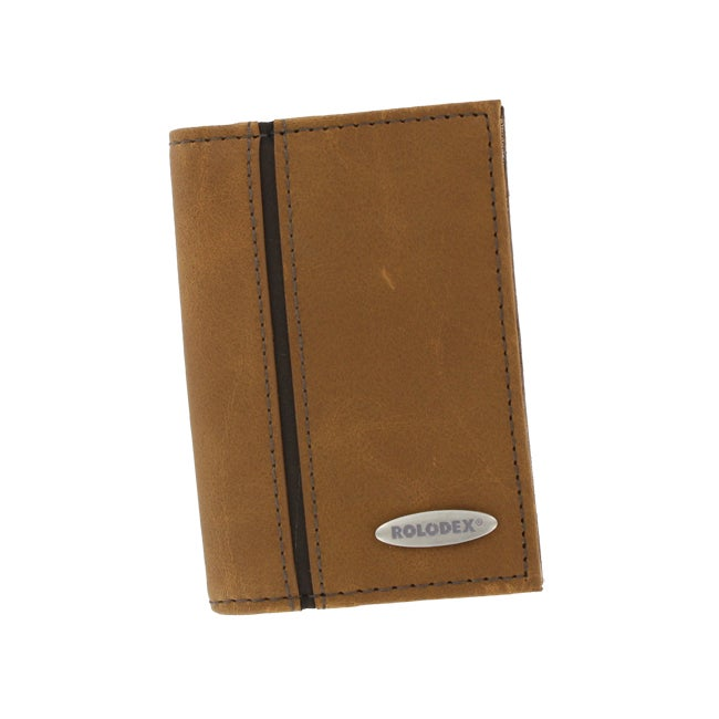 Rolodex Brown Personal Card Case