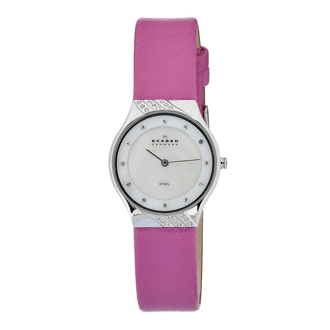 d676ad434 Shop Skagen Women's MOP Dial Element Pink Strap Watch - Free Shipping Today  - Overstock - 6856528