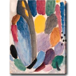 'Color Festival' Abstract Oil on Canvas Art