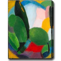 'Color Festival' Abstract Oil on Medium Canvas Art