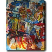 'African Festival' Abstract Oil on Canvas Art