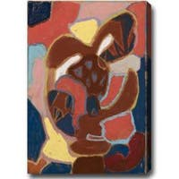 Contemporary Abstract Gallery-Wrapped Oil on Canvas Art - Multi