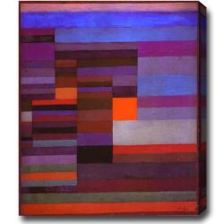 'Red and Purple' Abstract Oil on Canvas Art