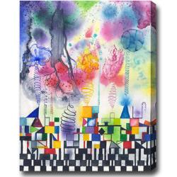 'The City' Abstract Oil on Canvas Art
