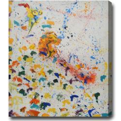 Large Contemporary Abstract Oil on Canvas Art - Multi - Thumbnail 0