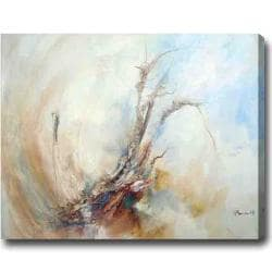 Modern Horizontal Abstract Oil on Canvas Art