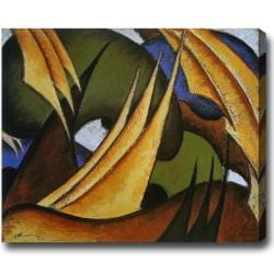 'Sails' Abstract Oil on Canvas Art