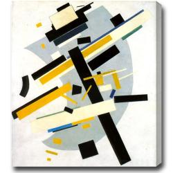 Kazimir Malevich 'Suprematism with Yellow and Black' Abstract Oil on Canvas Art