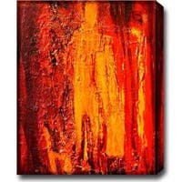 'Fire' Abstract Oil on Canvas Art - Multi