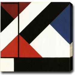 Theo van Doesburg 'Composition' Contemporary Abstract Oil-on-Canvas Art
