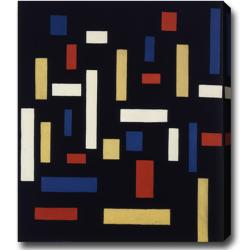 Theo van Doesburg 'Composition Three Graces' Abstract Oil on Canvas Art