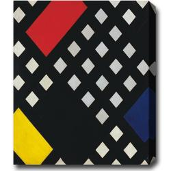 Theo van Doesburg 'Composition' Gallery-Wrapped Abstract Oil-on-Canvas Art
