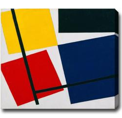 Theo van Doesburg 'Composition' Horizontal Abstract Oil-on-Canvas Art